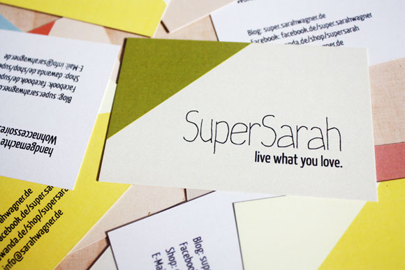 SuperSarah - Visitenkarten